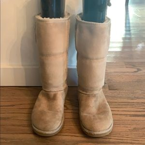 Classic tall sand Uggs